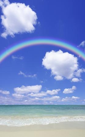 Sandy beaches and Rainbow