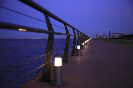 kanagawa: Evening promenade Stock Photo