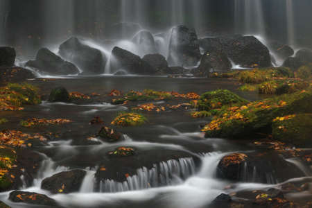 late: Late autumn waterfall