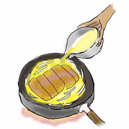 boiled eggs: It closed with eggs boiled -2 soup to make katsudon