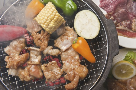 roast meat: Charcoal-grilled meat