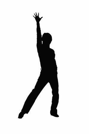 fellows: Dance silhouette Stock Photo