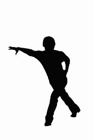 a fellow: Dance silhouette Stock Photo