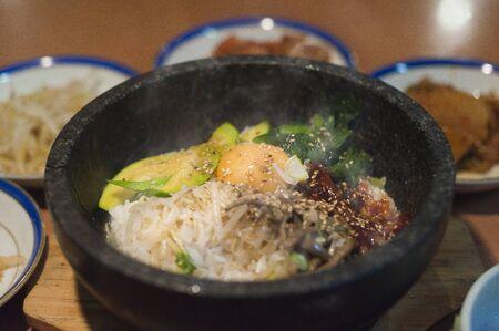 ethnic mix: Ishi-sho bibimbap