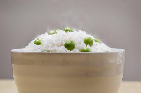 グリーン ピースご飯