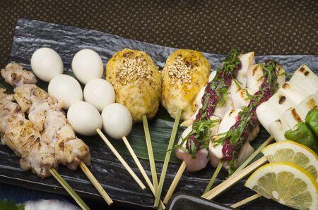 japanese quail: Skewers Assorted