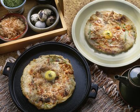 japanese quail: Okonomiyaki
