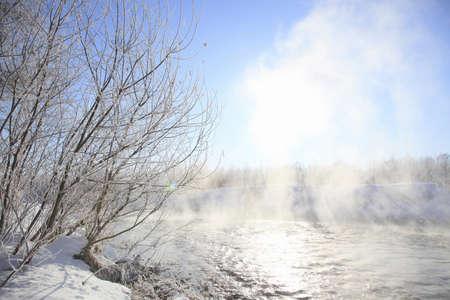 severe: Severe winter of waterside