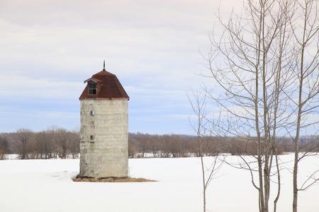 silo: Winter silo