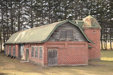 silo: Of red brick barn and silo