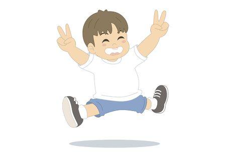 rejoicing: Jump Stock Photo