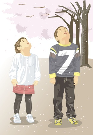 a fellow: Brother and sister and Sakura