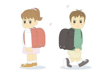 fellows: School bags and children
