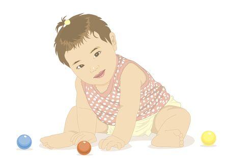 ボールと赤ちゃんプレイ