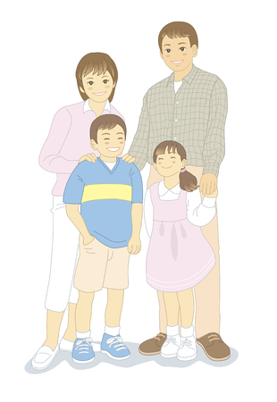 asian family: 4 person family.