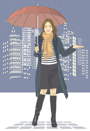 rain coat: Women Stock Photo