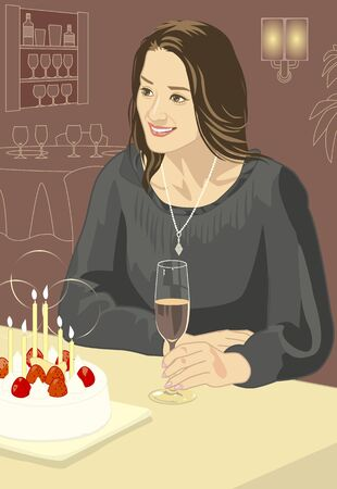 rice wine: Women Stock Photo