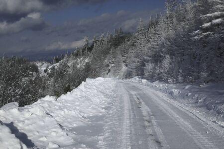 rut: Road of snow Stock Photo