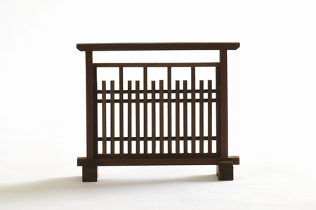 screen partition: Japanese-style partition screen miniature Stock Photo