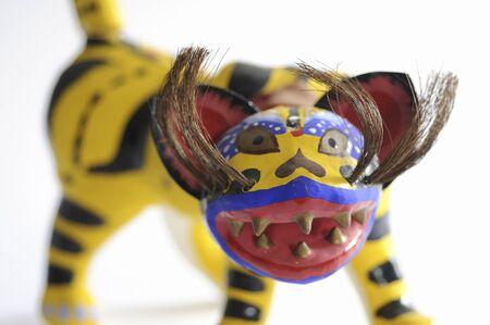 papiermache: Tiger of folk art papier-mache