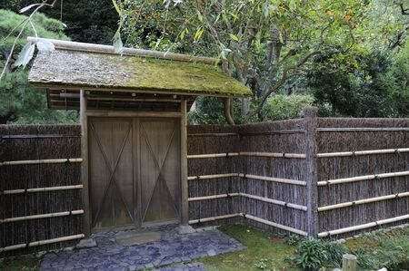 entryway: Doors and Takehei of Japanese house