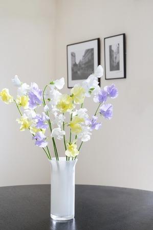 living: Hatsukaichi living room flower arrangement Stock Photo