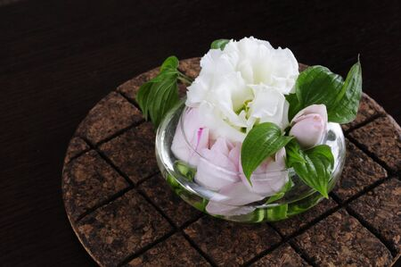 gentian flower: Flower arrangement Stock Photo