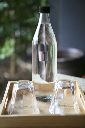 entered: Water that has entered the bottle