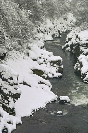 gorges: Akashiba Gorges of snow