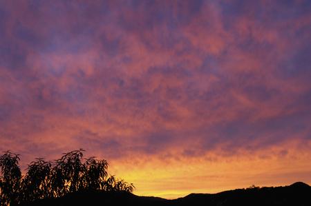 nightfall: Sunset clouds Stock Photo