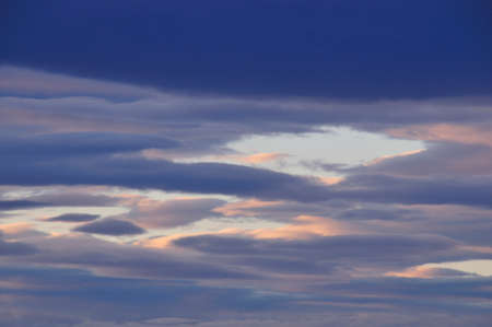 gloaming: Sunset clouds Stock Photo