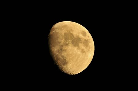 waxing gibbous: Moon Stock Photo