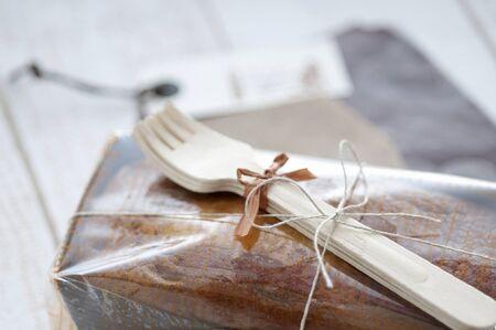 pound cake: Wrapping of pound cake