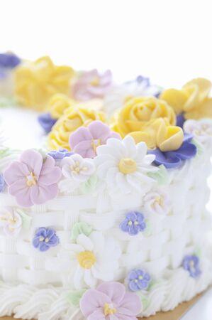 decoracion de pasteles: Flores de decoraci�n de la torta Foto de archivo