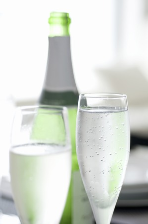 carbonic: Sparkling wine Stock Photo