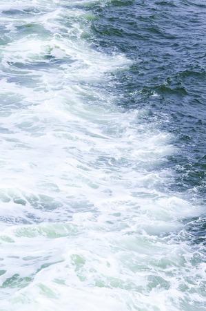 agitation: White-crested waves Stock Photo