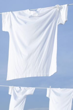 Blue sky and white T-shirt