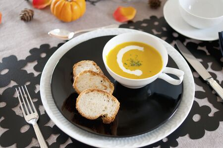 potage: Pumpkin potage and the bucket