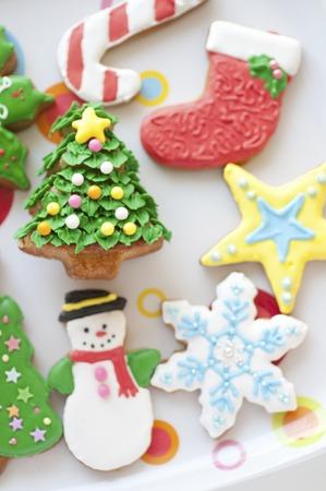 クリスマスのクッキー 写真素材