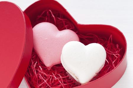 heartshaped: Heart-shaped macaroons