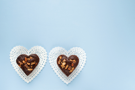 gateau: Heart-shaped gateau chocolat of
