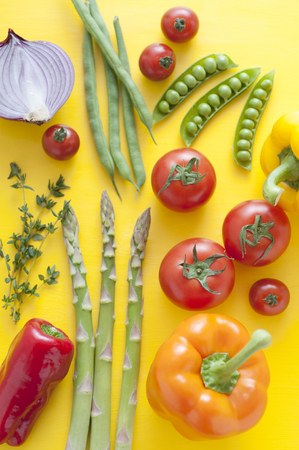 bean family: Colorful vegetables