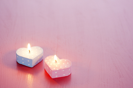 state of mood: Heart-shaped candle Stock Photo