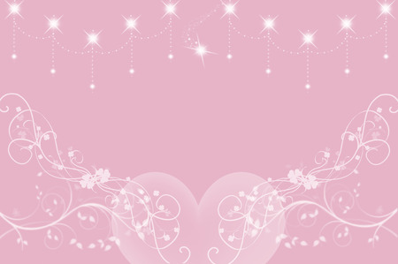 crystal background: Background Hearts and Crystal