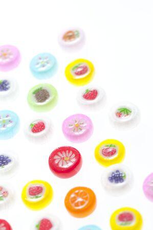 カラフルなキャンディ 写真素材