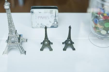 general store: Eiffel Tower Figurine Stock Photo