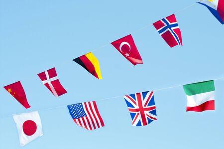 banderas del mundo: Tipo de banderas de los países Foto de archivo