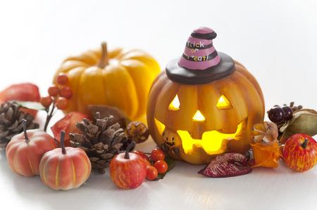 seasonal light display: Pumpkin lantern