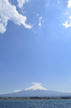 kawaguchi: Mt. Fuji and Lake Kawaguchi Stock Photo