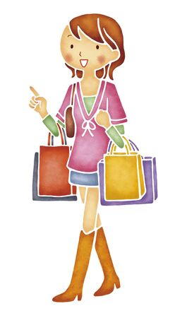 asian lifestyle: Women shopping Stock Photo